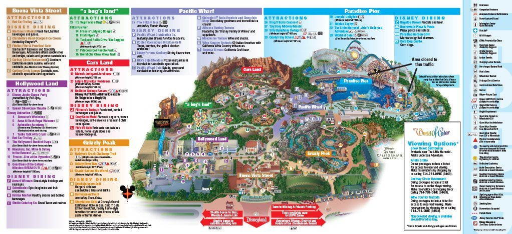 Disneyland Adventure Park Map DISNEY CALIFORNIA ADVENTURE® Park Map   Stovalls Inn Disneyland Adventure Park Map